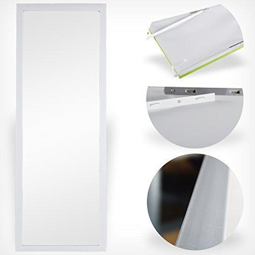 DRULINE Wand- und Tür Spiegel Wandspiegel Türspiegel Hängespiegel Rahmenspiegel Garderobenspiegel (Weiß)