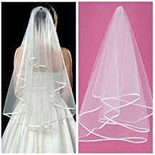 Encanto blanco marfil 2Tier mantilla bodas novia novia velo–-- Color: Marfil