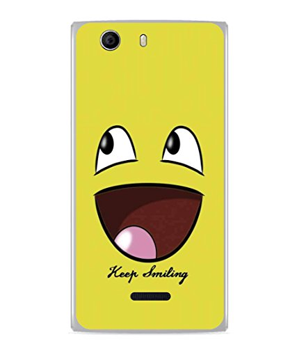 PrintVisa Designer Back Case Cover for Micromax Canvas Nitro 2 E311 (Cartoon Fun Smiley face Icon Cute Abstract Illustration)  available at amazon for Rs.296