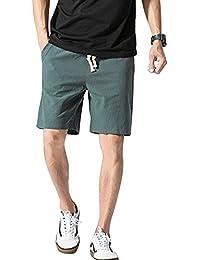 f0a3d625ef Hombre Casual Shorts Cortos Pantalones Tallas Grandes Bermudas De Lino