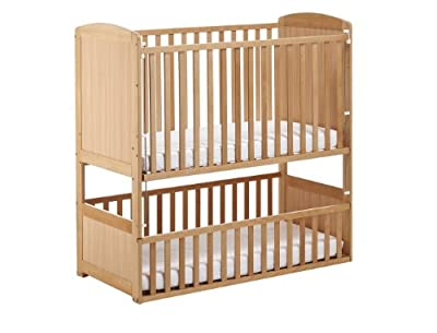 The Bunk Cot Company 3-in-1 Bunkcot 0-6 yrs (Beech) - low-cost UK Bunkbed store.