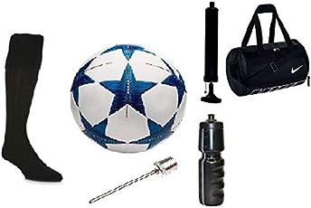 Football Combo_Sportino_03 (Sportino Football Combo (Football, Air Inflator, Air Niddle, Bag, Sipper, Stocking)
