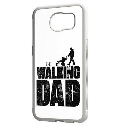 Smartcover Case The Walking dad z.B. für Iphone 5 / 5S, Iphone 6 / 6S, Samsung S6 und S6 EDGE mit griffigem Gummirand und coolem Print, Smartphone Hülle:Iphone 6 / 6S schwarz Samsung S6 EDGE weiss