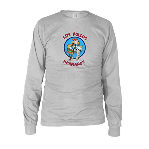 Los Pollos Hermanos - Herren Langarm T-Shirt Weiß