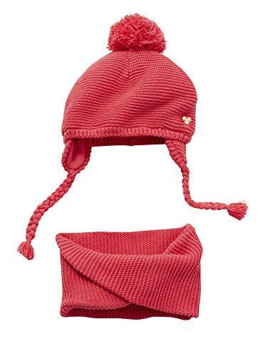 37da5aa6cae7 VERTBAUDET Bonnet + snood bébé fille Rosé vif 12 18M - 74 81CM