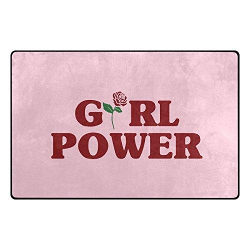vinlin Girl Power – Alfombrilla de Bienvenida Antideslizante Absorbente, Duradera, Lavable a máquina, para Interior y Exterior, poliéster, 60x39(in)