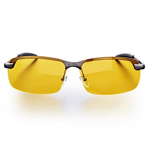 Night Driving Polarisierte Ansicht Schutzbrille Anti-Glare Antireflex-HD Nachtsichtbrille