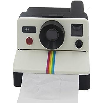 ELINKUME Polaroid Appareil photo style porte rouleau papier boîte à  mouchoirs boîte de lingettes toilette salle de bain 0f95db29d297