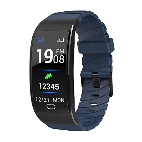 H.eternal Smartwatch, Wasserdicht Sport Smart Watch Fitness Tracker mit Schrittzähler Schlafanalyse Whatsapp Facebook Instagram Kompatible Android Handy für Herren Damen (Blau)