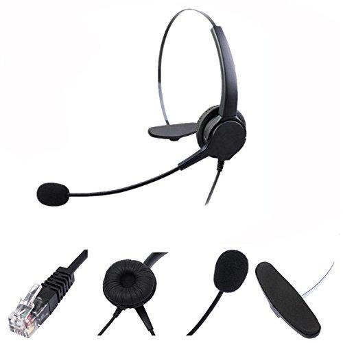 Rj11 Telefon-Headset Nahbesprechungsmikrofon Kopfhrer