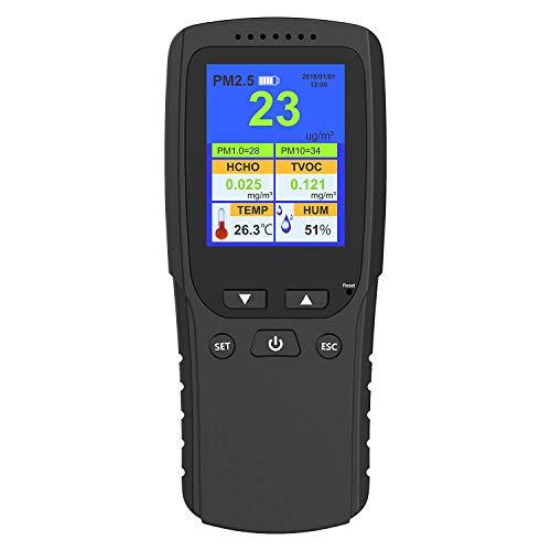 Monitoraggio della qualità dell\'aria interna AYQ per auto da casa Rilevazione esterna con rilevatore di tempo Tester di rilevamento formaldeide (HCHO) pm2.5 / PM10 / tvoc