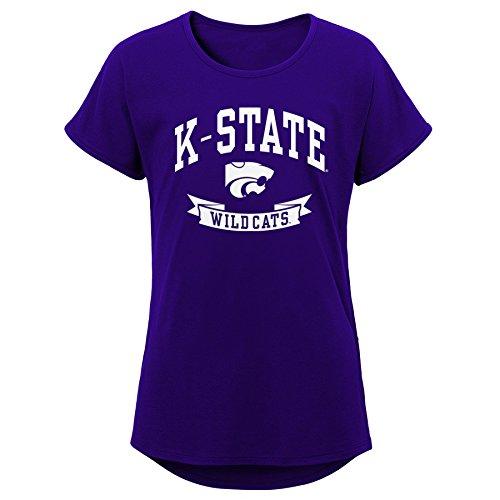 NCAA Kansas State Wildcats Jugend Mädchen Kurze Ärmel Dolman Tee, Jugend Mädchen, Mädchen, K N8 47T7A 96-XL, Regal Purple, Youth Girls X-Large (16) Fall Kansas State Wildcats