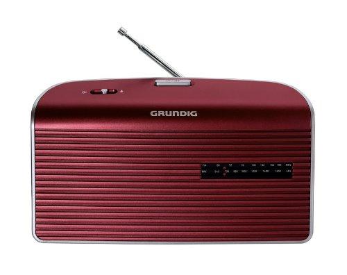 Grundig Music 60, empfangsstarkes Radio im modernen Design, red/silver
