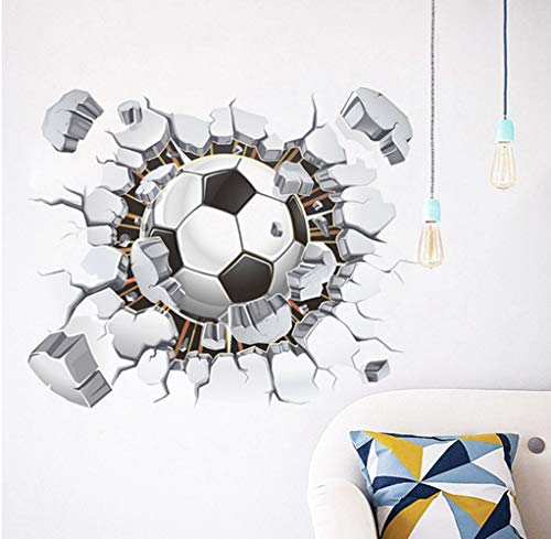 Zbyll wall stickers calcio muro rotto soggiorno camera da letto decorazione di sfondo adesivi