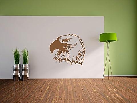 Adlerkopf Wandtattoo Format: 1200x1070 mm_m Wandbild, Wandaufkleber, Wandsticker Dekoration für