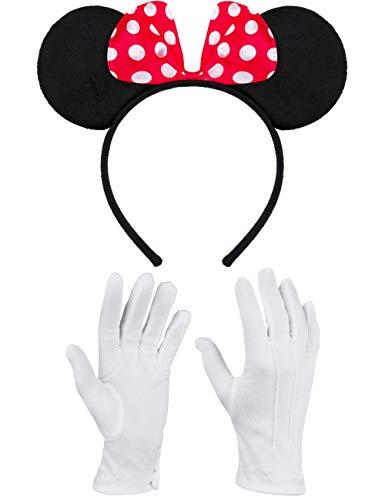 Balinco Haarreifen in schwarz mit Maus Ohren Mouse -