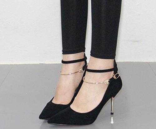 MDRW-Lady/Elegant/Arbeit/Freizeit/Feder Einzelne Schuhe Elegante Schwarze Feine Ferse 8 5 Cm Heels Pumps Damenschuhe Scharfe Elegante Professionelle Schuhe 39
