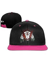 Gxdchfj Sombrero de búfalo de Nativo Americano Cabeza de Flecha Sombrero de Hip Hop Indio Gorra