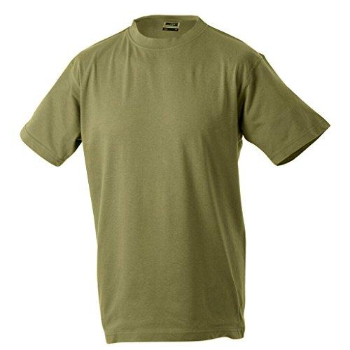 JAMES & NICHOLSON Kinder Komfort-T-Shirt aus hochwertigem Single-Jersey Khaki