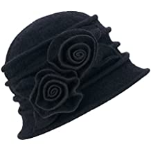 Lawliet Cappello cloche da donna vintage 8a4d16881874