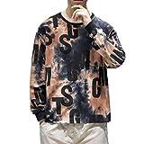 ZODOF Sudaderas Hombre Moda Cuello Redondo Manga Larga Suéter Camuflaje Impreso Blusa Camiseta T-Shirt Hoodie Sweatershirt Pullover Sudaderas Basicas,Rojo