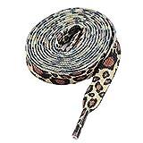 Lacets Mode Imprimés Léopard pour Baskets 1 Paire - 115cm de long - Multicolore - brown/brown animal laces, 115 cm