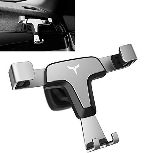 Longzhuo Auto Air Vent Handyhalterung Dreieck Kratzschutz Gelenk Handy Halterung Auto Lüftung Universal Kompatibel für iPhone 6/7/8/X/XS/XR Samsung Huawei Smartphone (Silber) -