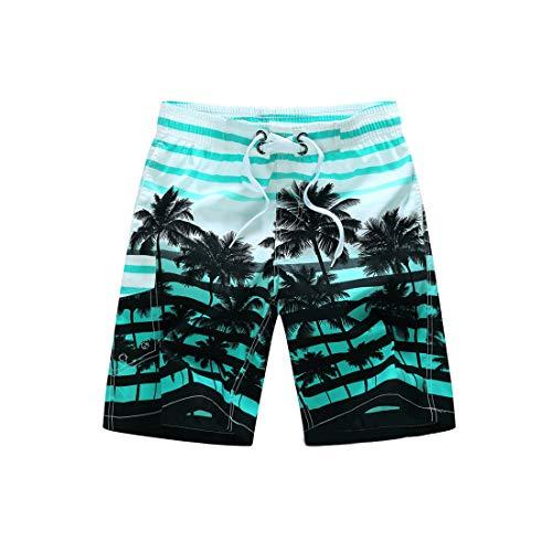 Inlefen pantaloncini da spiaggia estivi da uomo pantaloncini da bagno stampati a righe colorati pantalone da bagno casual a asciugatura rapida con tasche