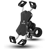 Grefay Support Téléphone de Vélo,Métal Support Smartphone de Moto Guidonavec 360° Rotation pour 4,5-6,8 pouces Smartphones Phone 11 Pro, XS Max, XR, X, 8, 7, 6S, Samsung S10 S9 S8 S7, Huawei