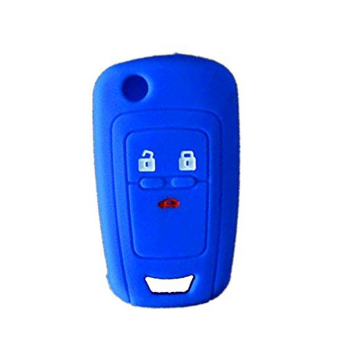 Nicky Blau Schutzhülle für Opel 3 Tasten Autoschlüssel Klappschlüssel Hülle Auto Schlüssel Silikon Tasche