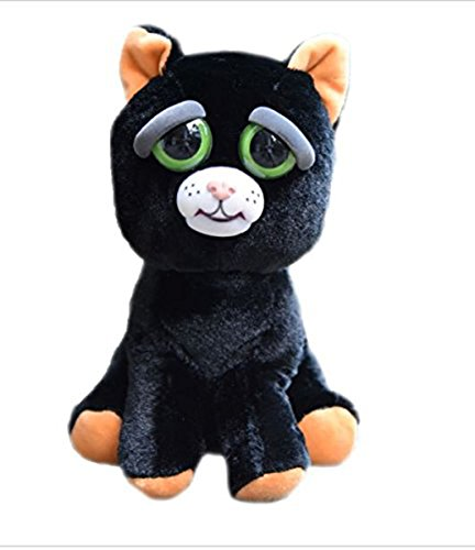 "Feisty Pets Katy Cobweb Black Cat 8"" Plush 0759786600125"
