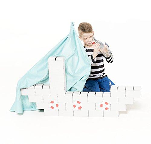 30 grandes bloques de construcción XL con NUEVO sistema de enclavamiento - un regalo increíble para las niñas y los niños, juguete educativo, juguetes ecológicos, de cartón resistente, extra duradero
