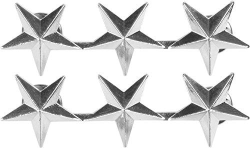 US Rangabzeichen aus Metall mit Nadelverschluss in verschiedenen Ausführungen Farbe Lieutenant (Militär General Kostüme)