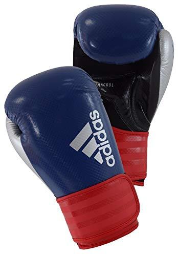 adidas Herren Hybrid 75 Boxhandschuhe, blau/Rot/Silber, 10 oz
