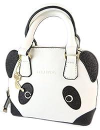 """Lollipops [N7380] - Sac créateur """"Lollipops"""" noir blanc (panda) - 22x18x15. 5 cm"""