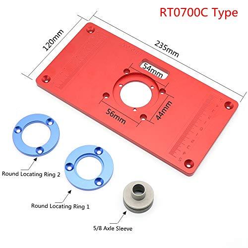 Aluminium Frästisch Einsatzplatte für Holzbearbeitungsbank Werkzeuge Holz Frästisch (RT0700C Typ)