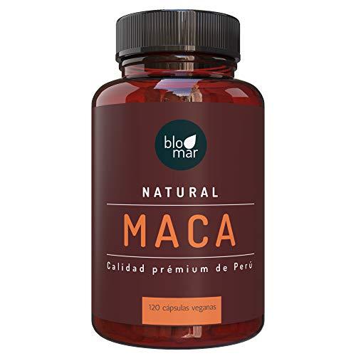 Cápsulas de maca en dosis elevadas - 1000 mg de dosis diaria - Raíz de maca procedente de Perú - 100% natural - Suministro para 3 meses - 120 cápsulas veganas de Blomar