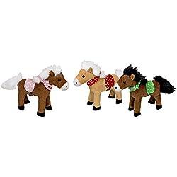 Horse Amigos de Johnny, max y compartimento poco caballo de peluche con sonido, 14cm, surtido, Modelo # 25563