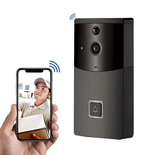 Video Doorbell Wireless 720P HD Wifi Smart Door Bells Battery Powered Home Security Camera Real-Time Video Two-Way Talk Night Vision, PIR Motion Detection