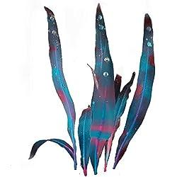 Merssavo Künstliches Silikon-Korallen-Gras Dekoration für Aquarium-Aquarium-Leuchtstoff Emulational Korallen-Aquarium Waterscape-Dekoration (Blau)