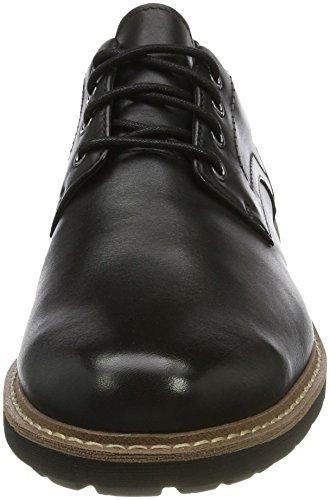 Clarks Batcombe Hall, Scarpe Stringate Brouge Uomo Nero (Black Leather)