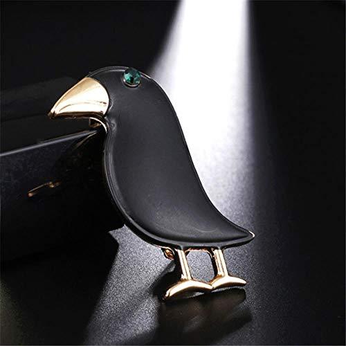 Yoin Persönlichkeit Crow Brosche Black Bird Emaille Pin Broschen Männer Frauen Anzüge Kleid Hut Kragen Brosche Pins Tier Schal Schnalle Geschenk (Dekorationen Crow Black)