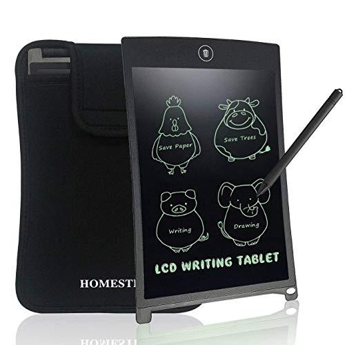 NEWYES Kinder Tablet LCD Schreibtafel Writing Tablet 8,5 Zoll - mit Einer Schutzhülle - Schwarz -