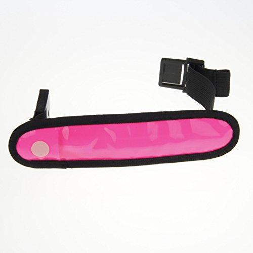 LED de sécurité brassard réfléchissant clignotant Vélo Randonnée pédestre Courir Sports de plein air LED Brassard Bracelets, Vendu par Namsan - Rose