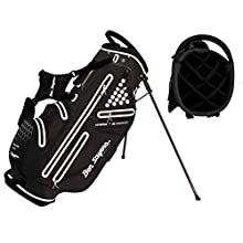 Ben Sayers Unisex Hydra Pro Waterproof Stand Bag, Black and White