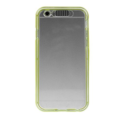 Wkae Case Cover enkay tpu - und plastik - rahmen - kombination mit led - beleuchtung blinkt nennen für iphone 6 plus ( Color : Light Green ) Light Green