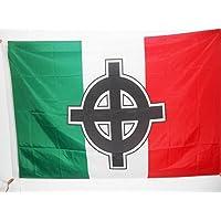 BANDIERA ITALIA CROCE CELTICA 90x60cm - BANDIERA ITALIANA NAZIONALISTA 60 x 90 cm foro per asta - AZ FLAG