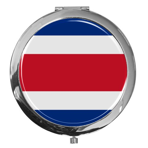 Miroir de poche / Drapeau le Costa Rica / Double agrandissement