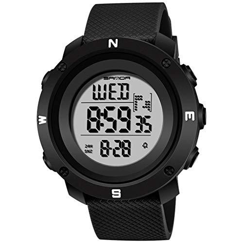 XZDCDJ Digitale Uhren Herren Sportuhr Armbanduhr Sanda Fashion Trend wasserdichte Sportuhr Jugend Digital Paar Uhr Männer A - Zeigen Jugend-socken