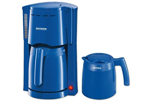 SEVERIN KA 9235 Filter-Kaffeemaschine Blau 2 Isolierkannen 800 Watt